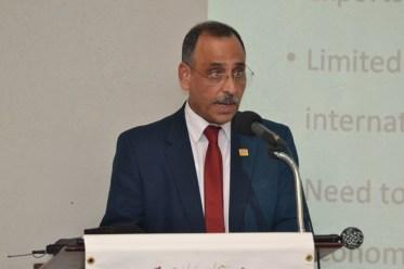 Professor Sarim Al-Zubaidy presenting at the event.