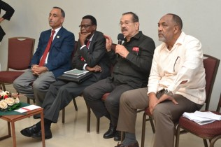 [From left to right] – The panellists; Professor Al-Zubaidy, Professor Andrew Jupiter, Professor Clement Imbert and Dr. Vincent Adams.