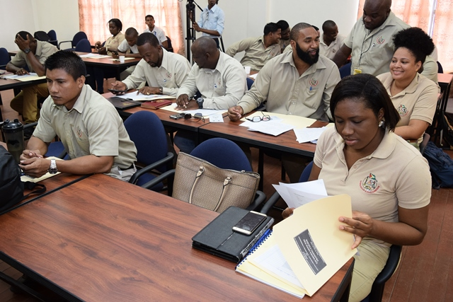 Guyana Geology and Mines Commission (GGMC) Mines Officers at anti-TIP training.