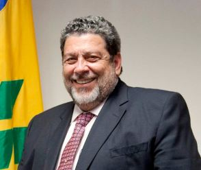 Prime Minister of St Vincent and the Grenadines Dr. Ralph Gonsalves.