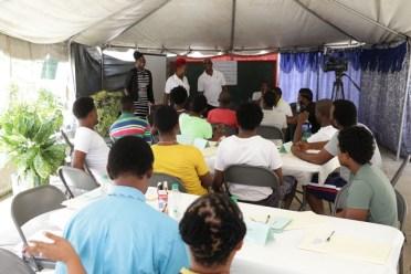 Inmates and Presenters facing inmates
