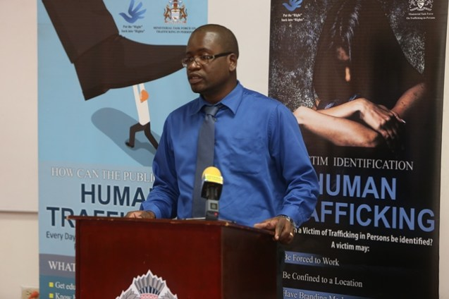 Acting Head of the Policy and Research Unit and Observatory Officer, Ministry of Public Security, Courtney Samuels.