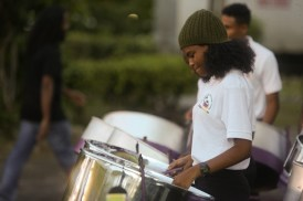 The West Demerara Steel Pan Orchestra performed a number of pieces at Fête de la Musique.
