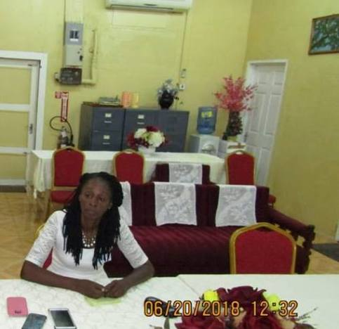 Kwakwani Hospital Social Worker Laurette Gray.