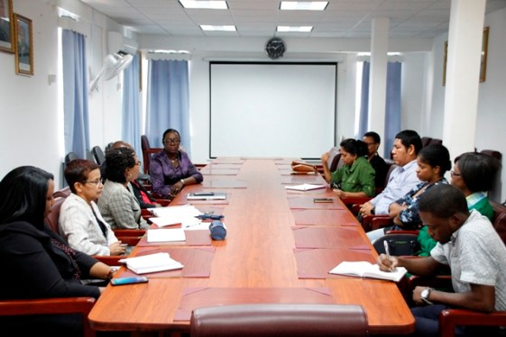 The parents of the child meeting with the leadership of the school and officials of the Ministry of Education today.