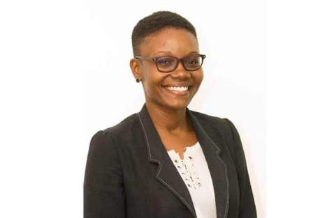 Queen's Young Leaders awardee, Marva Langevine (image courtesy of Guyana Chronicle).