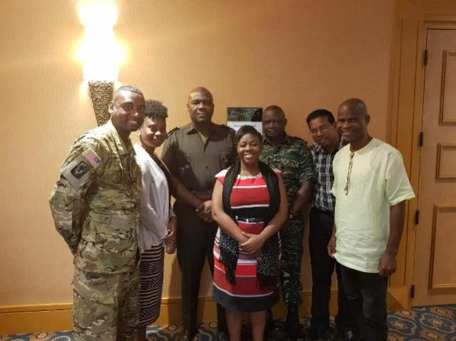 The New Horizons Guyana delegation who attended the initial planning conference.