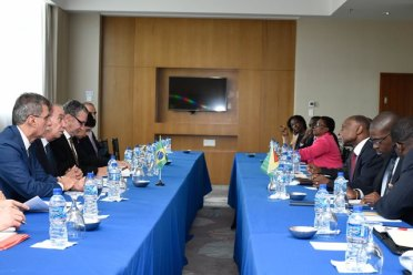 Guyana and Brazil meeting to discuss areas of cooperation.