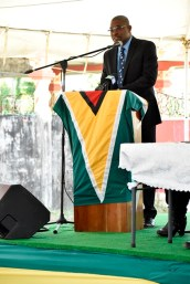 Minister of Public Infrastructure, Mr. David Patterson delivered the feature address at the commissioning of the Fourth Road Project. The Minister announced several infrastructural developments planned for the Essequibo Islands-West Demerara (Region Three).