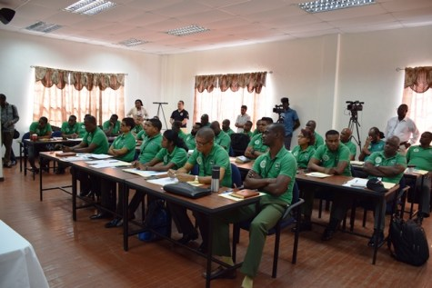Corps of Warden of the Ministry of Natural Resources during the TIP training at the Police Officers Training Center.