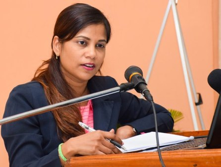 Regional Health Officer (ag) of Pomeroon-Supenaam, Dr. Afarah Khan.