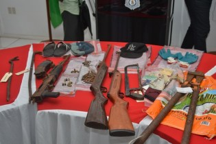 Weapons and other instruments recovered