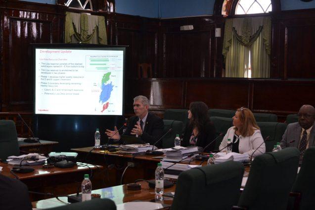 Henson updating the Committee on ExxonMobil's developments
