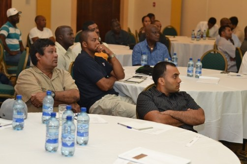 Some of the local crew members from Pritchard-Gordon Tankers at the safety seminar.