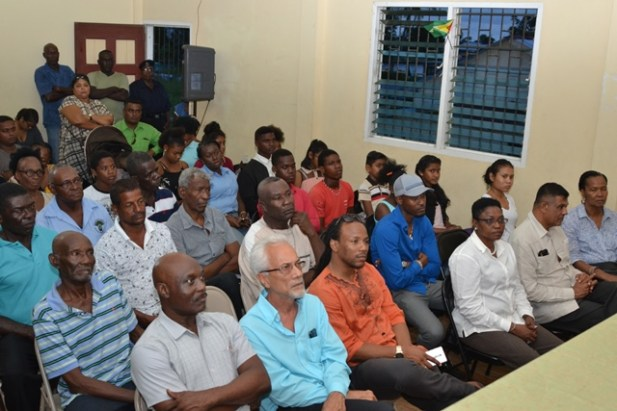 Community members gathered at the meeting