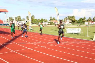 Kirani James as he comfortably crossed the finish line in first position