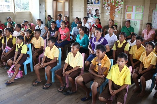 Pupils of the Fairview Primary, teachers and parents during the meeting.