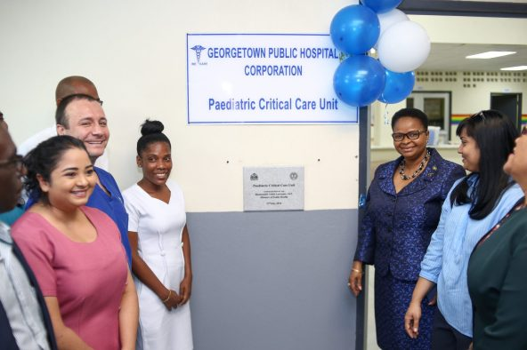 The unveiling of the plaque commissioning the building