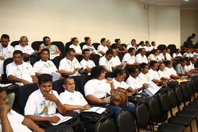 Some of the toshaos attending the conference