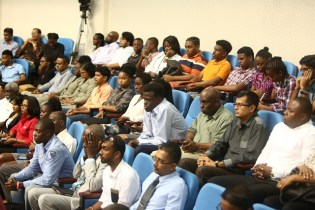 Sections of the gathering at the ICT Roadshow.