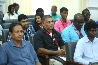 Participants at the Cyber Security Workshop.