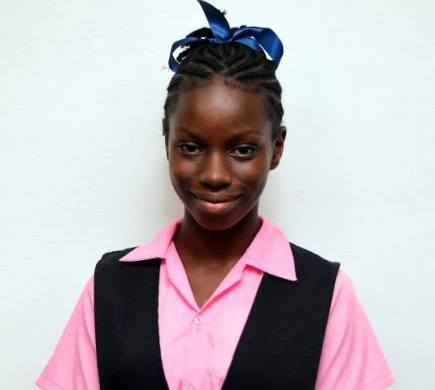 Shakina McGregor, who scored 521 marks which secured her entry to Queen's College.