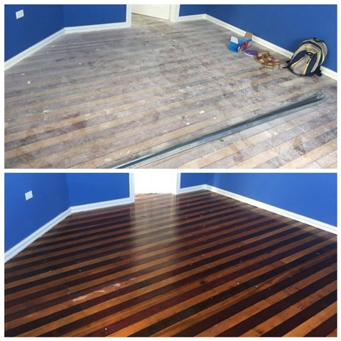 Before and after pictures of work done by 'Maid Simple Guyana'