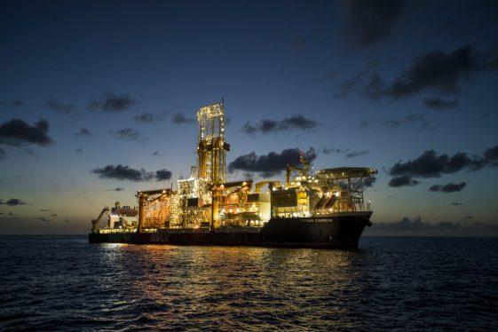 Drill ship Stena Carron in waters offshore Guyana