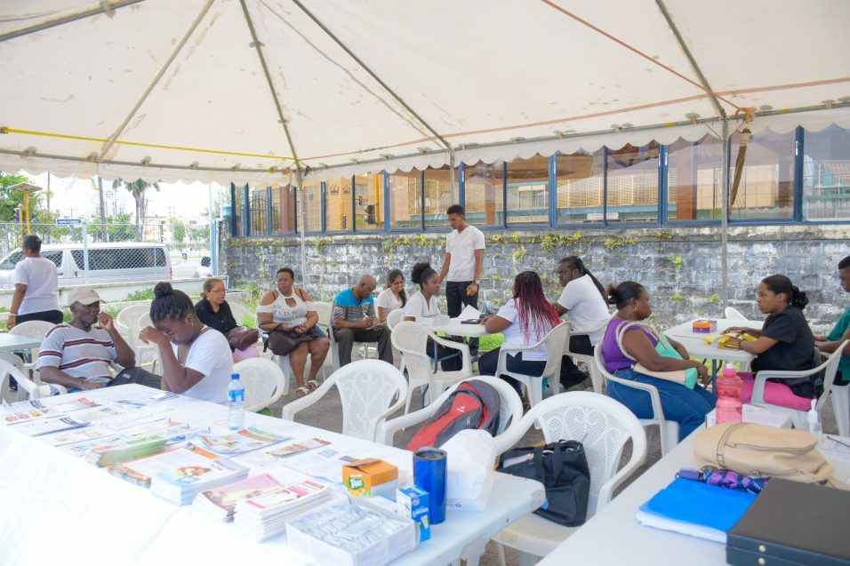 Scenes at the University of Guyana's Health Fair