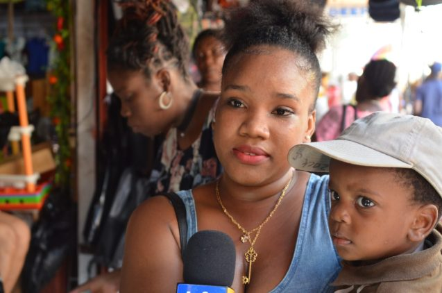 Ariel Alleyne, a parent shopping for back-to-school items