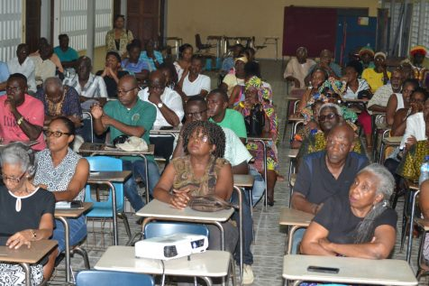 A section of the audience at the Buxton First of August Movement's annual emancipation symposium