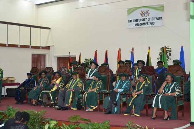 Staff of the University of Guyana at the 2018/2019 Orientation.