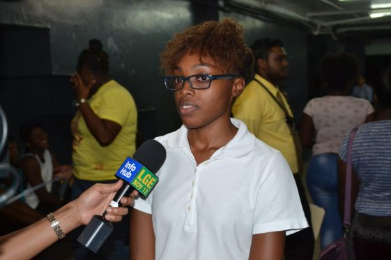 New University of Guyana student, Johnali Stewart