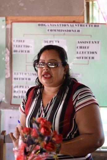 Chairperson of the Cane Grove Neighbourhood Democratic Council, Nemawattie Baldeo.