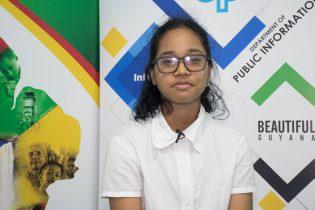 Queen's College student, Haema Dasrath who secured 17 Grade Ones at CSEC