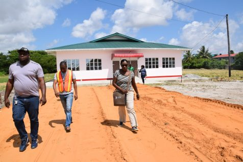 Minister of Education, Nicolette Henry after visiting the Special Education Needs Diagnostic and Assimilation Centre located in the compound of the Cyril Potter College of Education