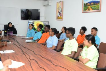 The Rights of the Child Commission (RCC) Youth Ambassador at the press conference