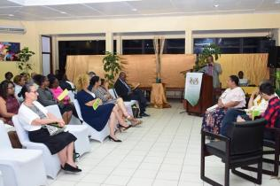 Scenes at the University of Guyana (UG) book launch.
