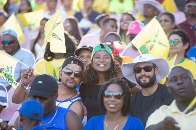 Capacity crowd at the Nation Stadium supporting the Guyana Amazon Warriors