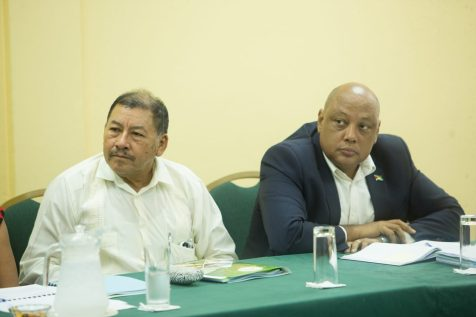 Ministers of Natural Resources, Raphael Trotman and Indigenous Peoples' Affairs Sydney Allicock
