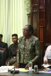 Minister of Education, Nicolette Henry