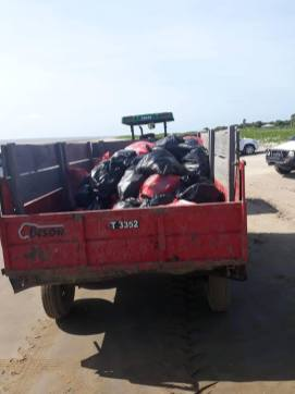 Some of the garbage collected