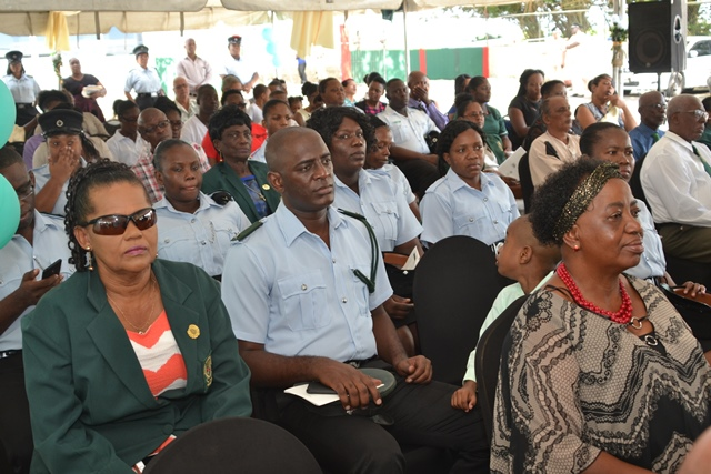 Prison Officers at the Church service this morning.