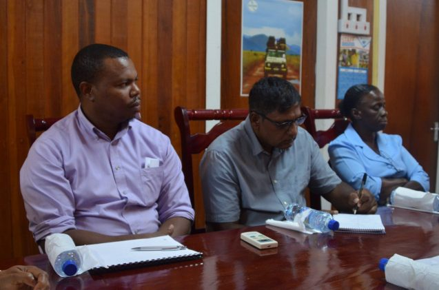 Regional Democratic Council's (RDC) Health Committee outgoing Chairman, Dr. Gregory Harris [extreme left] and other committee members