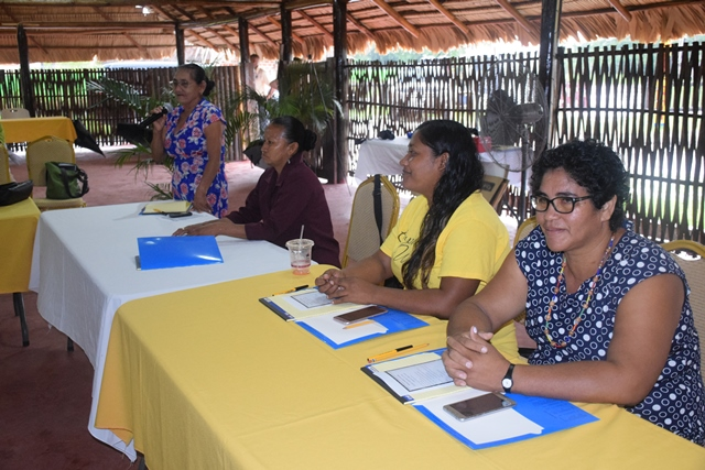 Some of the female Toshaos who participated in the leadership training.