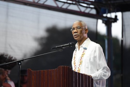 President David Granger during his featured address.