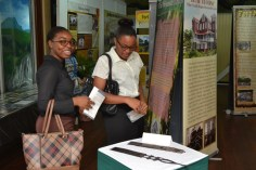 Scenes of the National Trust of Guyana's Heritage Exhibition.
