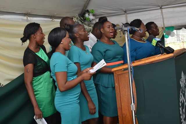 Members of the Prison Service Choir leading in song.