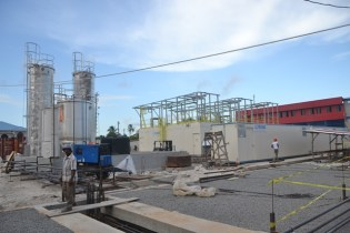 Ongoing construction works on the new Anna Regina Power Station .