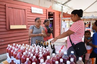 Patrons purchasing some of the unique products during the Indigenous Food and Craft sale in Sophia.